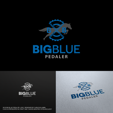 Big Blue Pedaler A Logo, Monogram, or Icon  Draft # 71 by carlovillamin