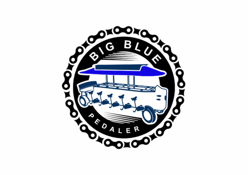 Big Blue Pedaler A Logo, Monogram, or Icon  Draft # 102 by skysthelimit