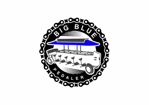 Big Blue Pedaler A Logo, Monogram, or Icon  Draft # 103 by skysthelimit