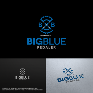 Big Blue Pedaler A Logo, Monogram, or Icon  Draft # 105 by carlovillamin