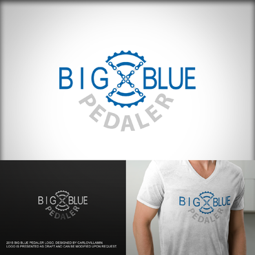 Big Blue Pedaler A Logo, Monogram, or Icon  Draft # 121 by carlovillamin