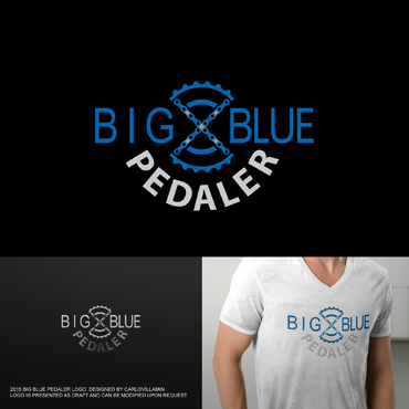 Big Blue Pedaler A Logo, Monogram, or Icon  Draft # 122 by carlovillamin