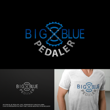 Big Blue Pedaler A Logo, Monogram, or Icon  Draft # 124 by carlovillamin