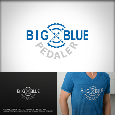 Big Blue Pedaler A Logo, Monogram, or Icon  Draft # 128 by carlovillamin