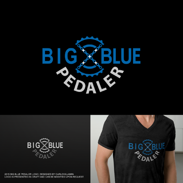 Big Blue Pedaler A Logo, Monogram, or Icon  Draft # 129 by carlovillamin