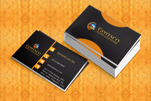 Gotesco Water Solutions, Inc. Business Cards and Stationery  Draft # 290 by PixxelHouse