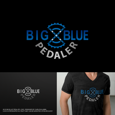 Big Blue Pedaler A Logo, Monogram, or Icon  Draft # 140 by carlovillamin