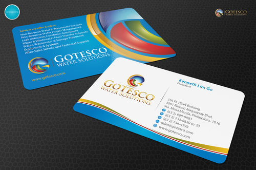 Gotesco Water Solutions, Inc. Business Cards and Stationery  Draft # 316 by aheadpoint
