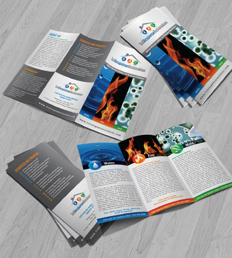 Water, Fire, and Mold Restoration Services Marketing collateral Winning Design by Achiver