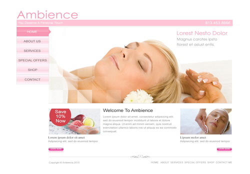 Ambiance Complete Web Design Solution  Draft # 1 by FreelanceDan