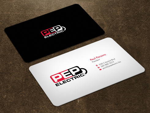 PEP Electric LLC Business Cards and Stationery  Draft # 1 by Xpert