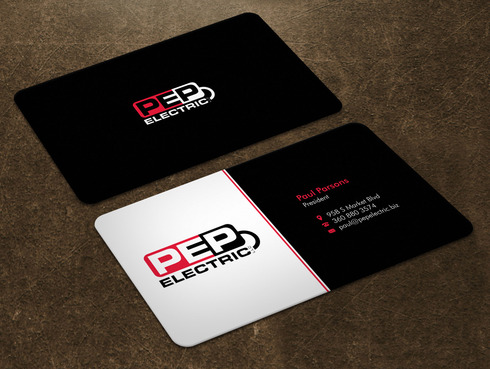 PEP Electric LLC Business Cards and Stationery  Draft # 3 by Xpert