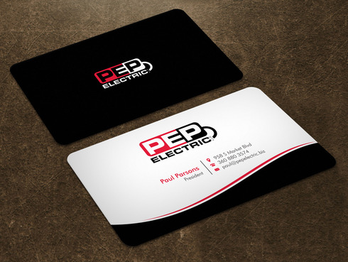PEP Electric LLC Business Cards and Stationery  Draft # 4 by Xpert