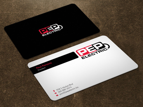 PEP Electric LLC Business Cards and Stationery  Draft # 6 by Xpert