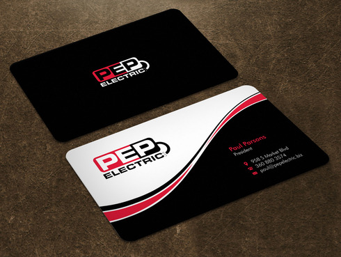 PEP Electric LLC Business Cards and Stationery  Draft # 7 by Xpert