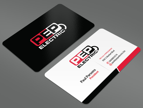 PEP Electric LLC Business Cards and Stationery  Draft # 18 by ArtworksKingdom