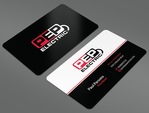 PEP Electric LLC Business Cards and Stationery  Draft # 23 by ArtworksKingdom