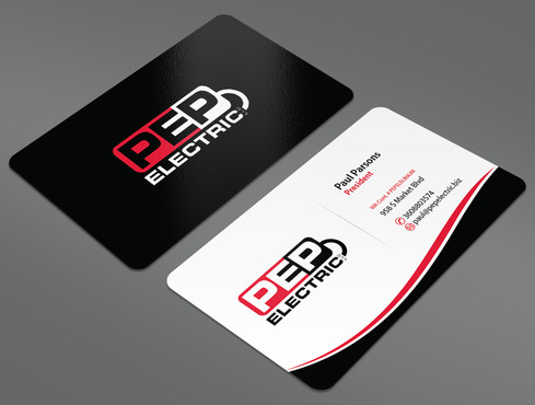 PEP Electric LLC Business Cards and Stationery  Draft # 26 by ArtworksKingdom