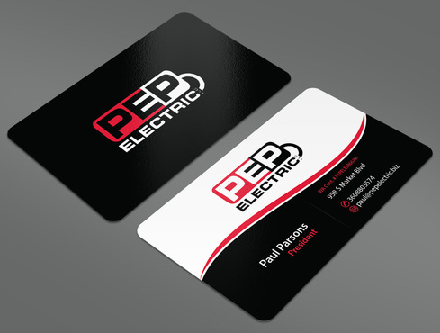 PEP Electric LLC Business Cards and Stationery  Draft # 28 by ArtworksKingdom