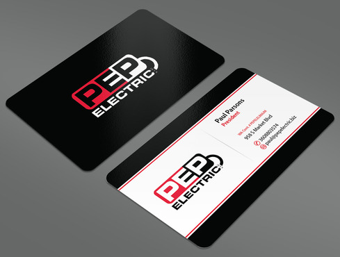 PEP Electric LLC Business Cards and Stationery  Draft # 29 by ArtworksKingdom