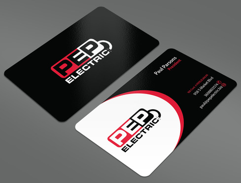 PEP Electric LLC Business Cards and Stationery  Draft # 33 by ArtworksKingdom