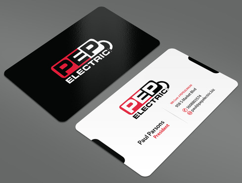 PEP Electric LLC Business Cards and Stationery  Draft # 37 by ArtworksKingdom