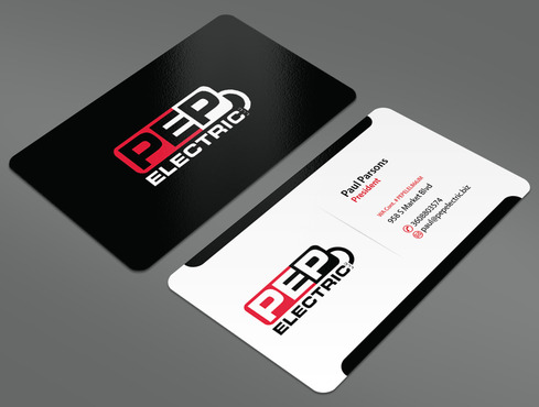 PEP Electric LLC Business Cards and Stationery  Draft # 38 by ArtworksKingdom