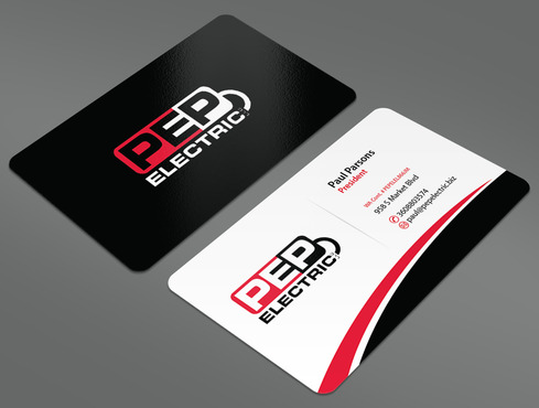 PEP Electric LLC Business Cards and Stationery  Draft # 45 by ArtworksKingdom