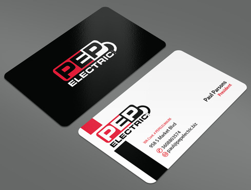 PEP Electric LLC Business Cards and Stationery  Draft # 47 by ArtworksKingdom