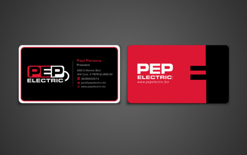 PEP Electric LLC Business Cards and Stationery  Draft # 149 by einsanimation