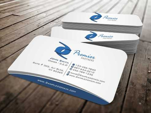 Premier Partners Business Cards and Stationery  Draft # 143 by Dawson