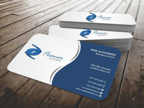 Premier Partners Business Cards and Stationery  Draft # 146 by Dawson