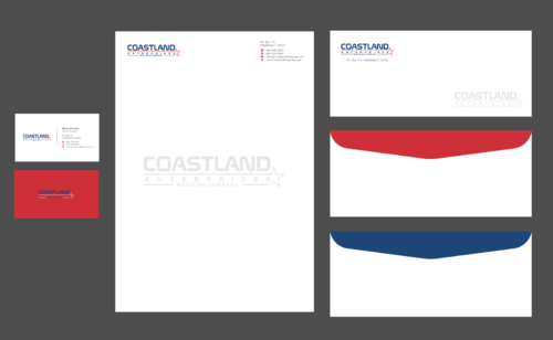 Coastland Enterprises Business Cards and Stationery  Draft # 3 by Xpert