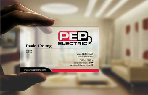 PEP Electric LLC Business Cards and Stationery  Draft # 278 by Dawson
