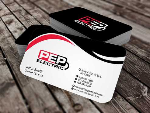 PEP Electric LLC Business Cards and Stationery  Draft # 283 by Dawson
