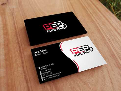 PEP Electric LLC Business Cards and Stationery  Draft # 286 by Dawson