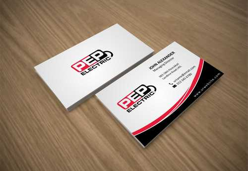 PEP Electric LLC Business Cards and Stationery  Draft # 288 by Dawson
