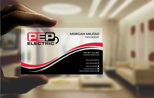 PEP Electric LLC Business Cards and Stationery  Draft # 291 by Dawson