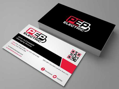 PEP Electric LLC Business Cards and Stationery  Draft # 300 by Dawson