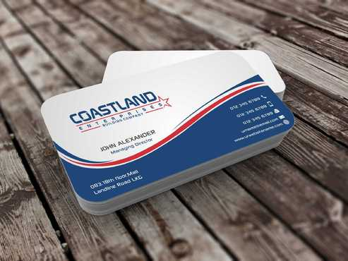 Coastland Enterprises Business Cards and Stationery  Draft # 127 by Dawson