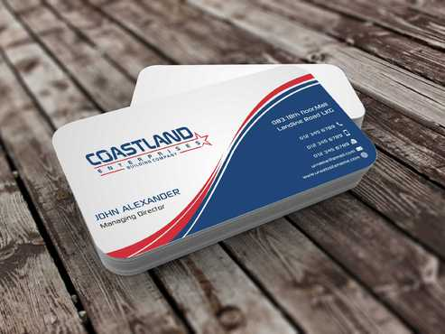 Coastland Enterprises Business Cards and Stationery  Draft # 130 by Dawson
