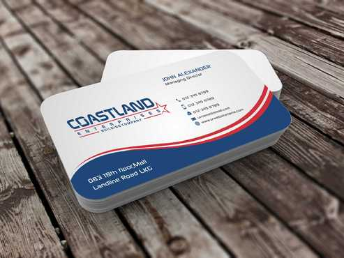 Coastland Enterprises Business Cards and Stationery  Draft # 132 by Dawson
