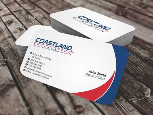 Coastland Enterprises Business Cards and Stationery  Draft # 138 by Dawson
