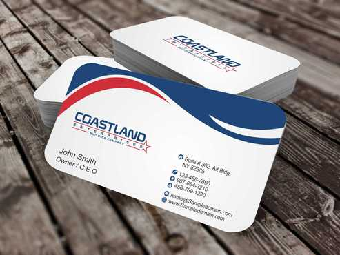 Coastland Enterprises Business Cards and Stationery  Draft # 139 by Dawson