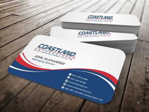 Coastland Enterprises Business Cards and Stationery  Draft # 140 by Dawson