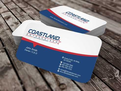 Coastland Enterprises Business Cards and Stationery  Draft # 142 by Dawson