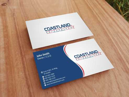 Coastland Enterprises Business Cards and Stationery  Draft # 143 by Dawson