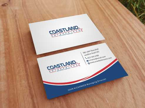 Coastland Enterprises Business Cards and Stationery  Draft # 150 by Dawson