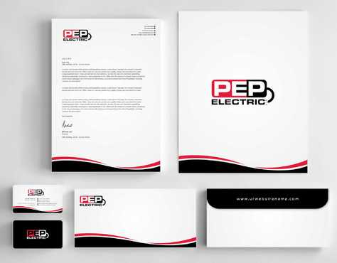 PEP Electric LLC Business Cards and Stationery  Draft # 309 by Dawson