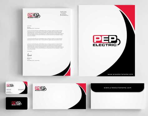 PEP Electric LLC Business Cards and Stationery  Draft # 311 by Dawson